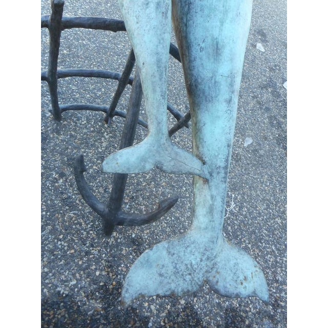 Bronze Dolphin and Anchor Fountain For Sale - Image 9 of 9