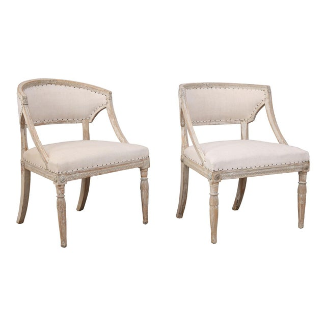 Pair of 19th Century Swedish Armchairs For Sale - Image 9 of 9