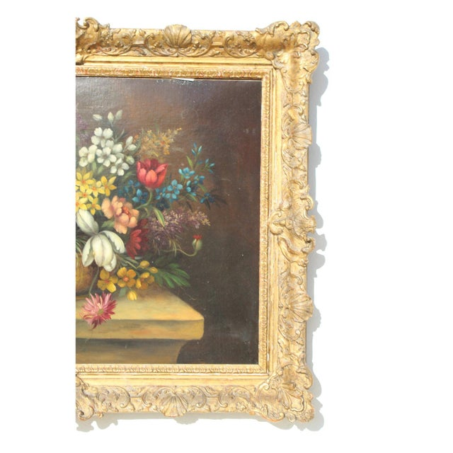 Early 20th C. Dutch Italian Floral Painting For Sale - Image 4 of 10