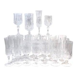 Cristal d'Arques Durand Longchamp 4 Pc. Glassware Place Settings - Set of 24 For Sale