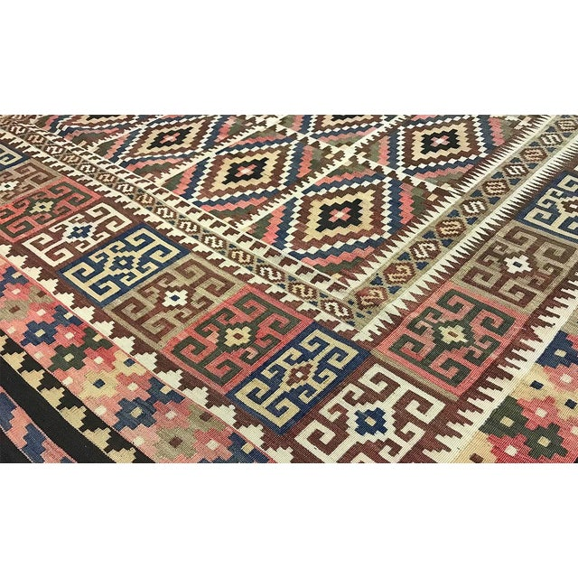 Traditional Traditional Hand Woven Rug - 6'7 X 9'4 For Sale - Image 3 of 4