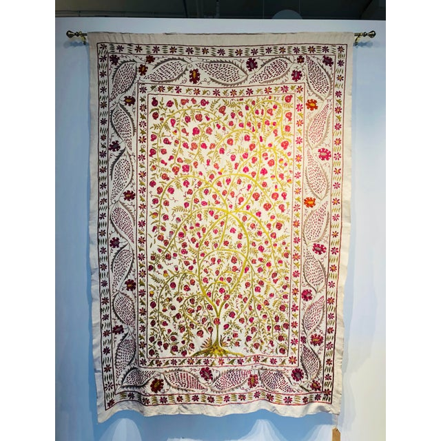 Hand-Embroidered Suzani For Sale - Image 4 of 5