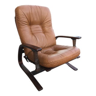 Vintage 1970s Reclining Lounge Chair by Ingmar Relling for Westnofa For Sale