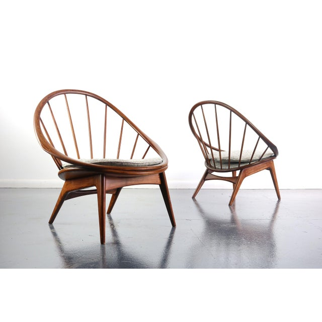 Wood Ib Kofod-Larsen for Selig Hoop Chairs - a Pair of Two (2) For Sale - Image 7 of 7