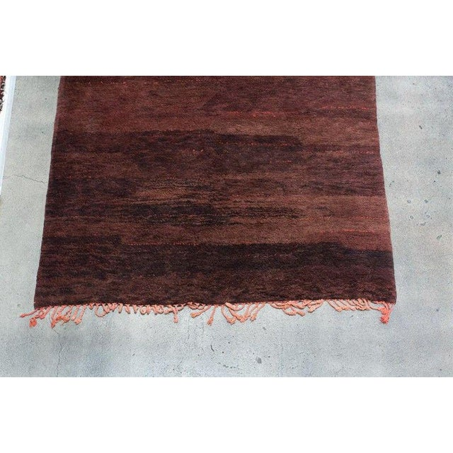 Vintage Tribal Moroccan Berber rug, different hues of browns and rust natural organic wool. This carpet is a gorgeous...
