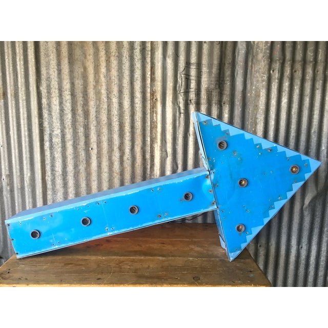 Vintage Double-Sided Flashing Marquee Arrow - Image 4 of 11