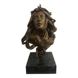 1950s Vintage Female Bust Sculpture