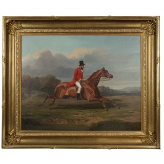 Early 19th Century Vintage Oil Painting For Sale