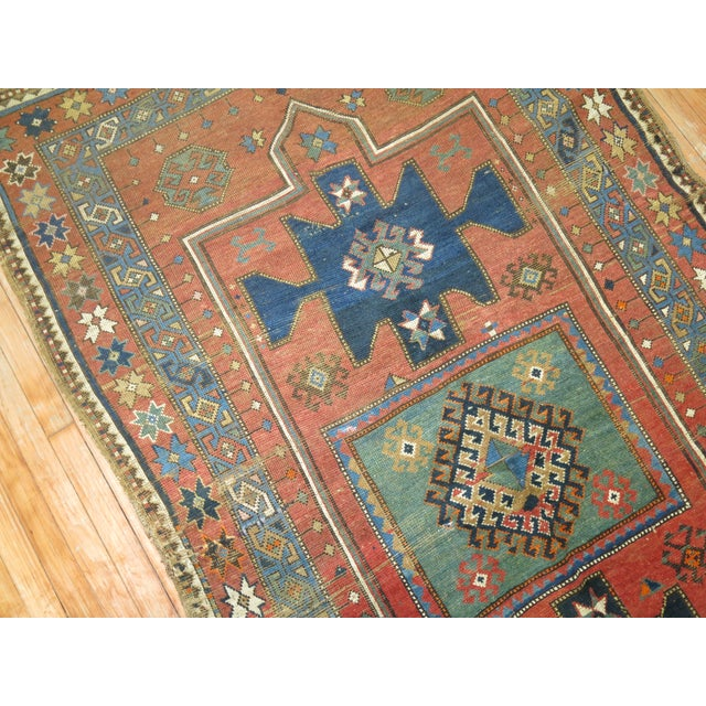 Textile Antique Caucasian Rug, 4'6'' x 8' For Sale - Image 7 of 11