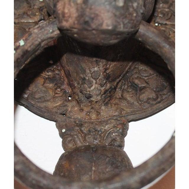 19th Century Spanish Iron Bull Door Knocker - Image 8 of 8