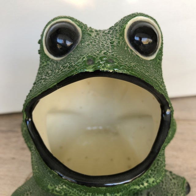 Mid-Century Modern Frog Planter For Sale - Image 5 of 7