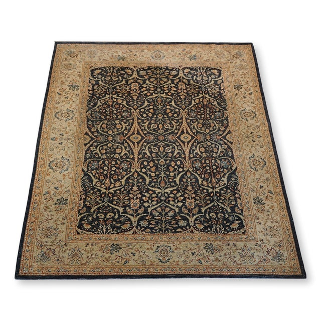 8' X 9' Vintage Wool Peshawar Oriental Rug For Sale - Image 11 of 11