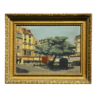 s.g. Garrett -Place De La Contrescarpe ,Paris 1963 - Oil Painting