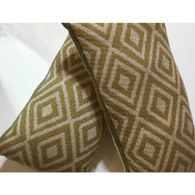 Vintage Geomtic Motif Pillows - A Pair - Image 9 of 9