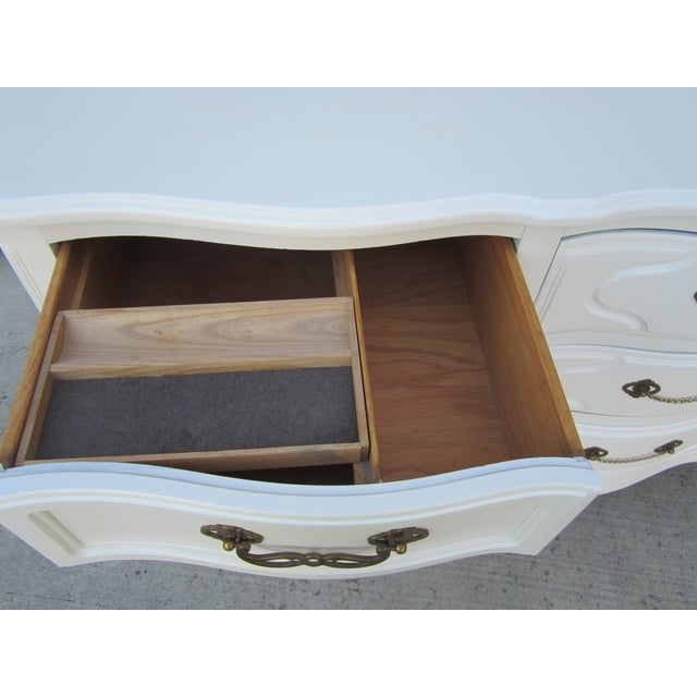 Drexel White Vintage French Country Dresser - Image 7 of 9