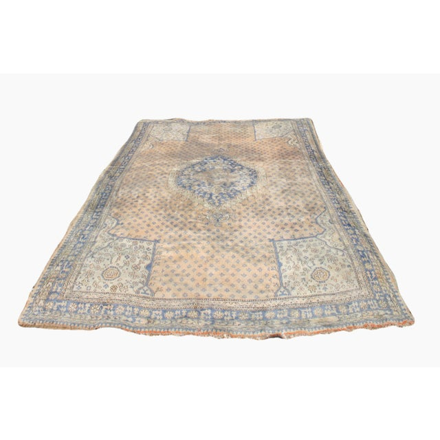 Early 20th Century Antique Oushak Waterloo Design Rug - 11′9″ × 15′5″ For Sale - Image 13 of 13