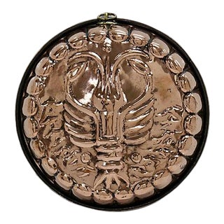 19th Century English Copper Lobster Pie Mold
