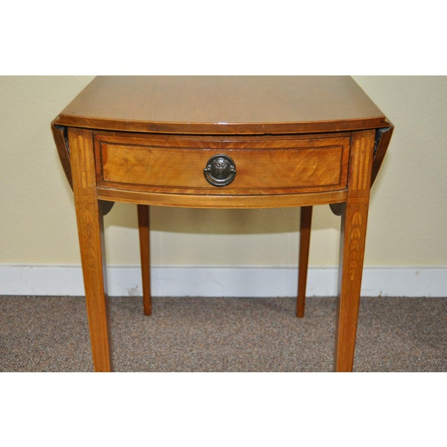 American Drop Leaf Side Table With Drawer C.1915 - Image 4 of 9