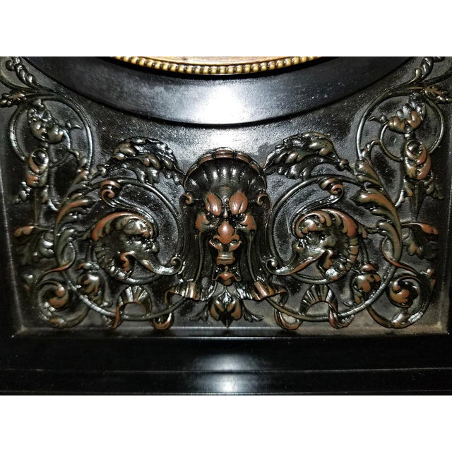 Federal 19th Century French Slate & Bronze Clock by Marti For Sale - Image 3 of 13