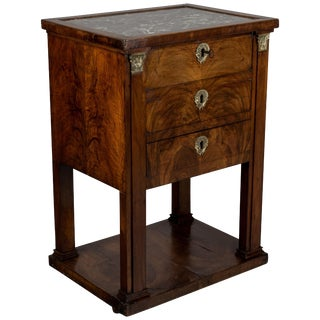19th Century French Empire Travailleuse or Side Table For Sale