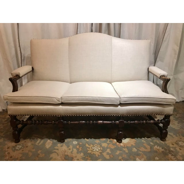 French Transitional Regency Period Sofa For Sale - Image 6 of 6