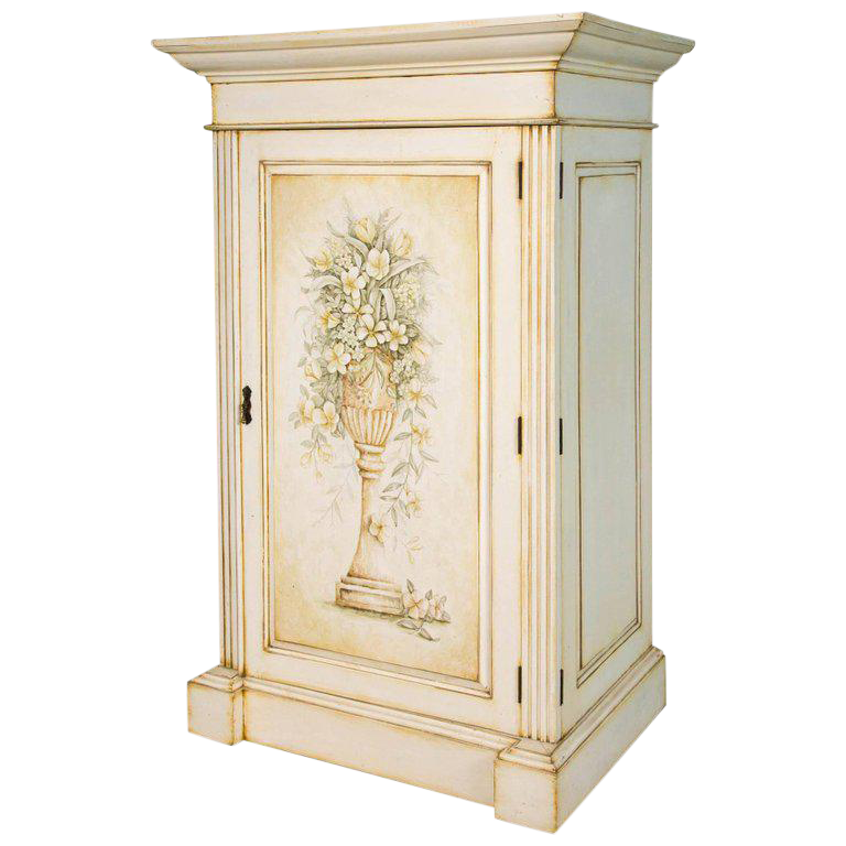 French Hand Painted Storage Cabinet / Armoire