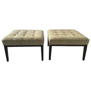 Pair of Mitchell Gold Bob Williams Ottomans For Sale