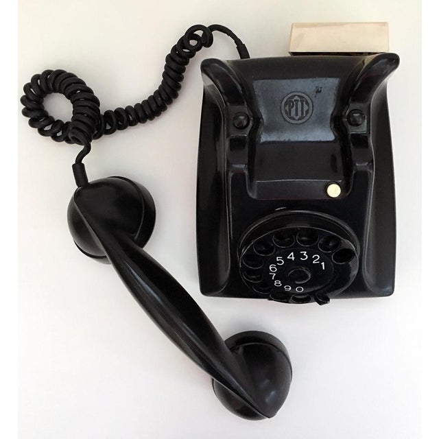 Mid-Century Modern Bakelite Telephone With Adapter For Sale - Image 3 of 9