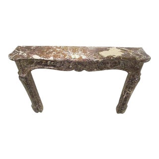 Louis XV Rouge Royale Gray Marble Mantel