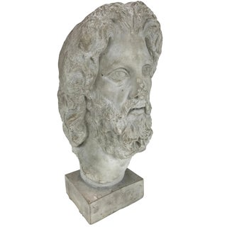 Hellenistic Style Plaster Bust For Sale