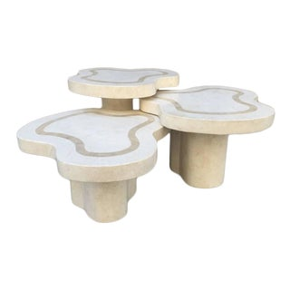 Maitland-Smith Tessellated Fossil Stone Tables For Sale