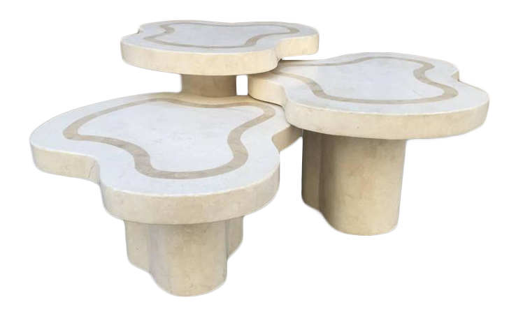 Maitland Smith Tessellated Fossil Stone Tables For Sale