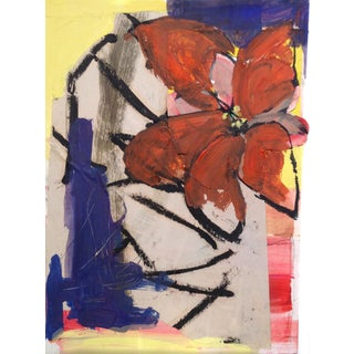 Mixed Media Abstraction & Flower Collage For Sale