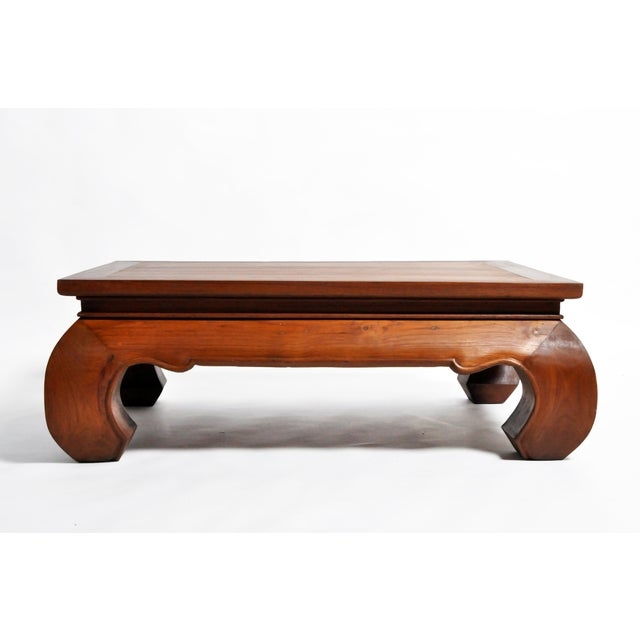 This handsome newly made coffee table is from Thailand and was made from teak wood. The customer has the option to change...