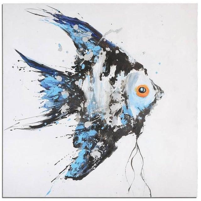 Acrylic Angel Fish Painting - Image 2 of 2