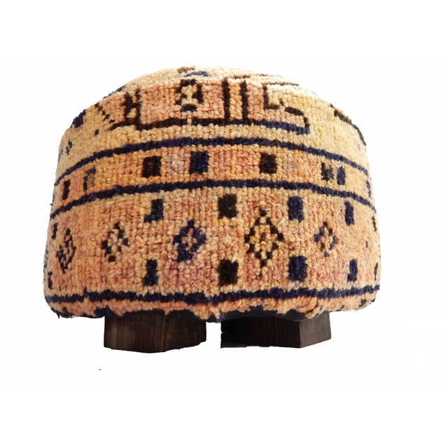 Ottoman Upholstered with Antique Tribal Herat Rug - Image 2 of 5