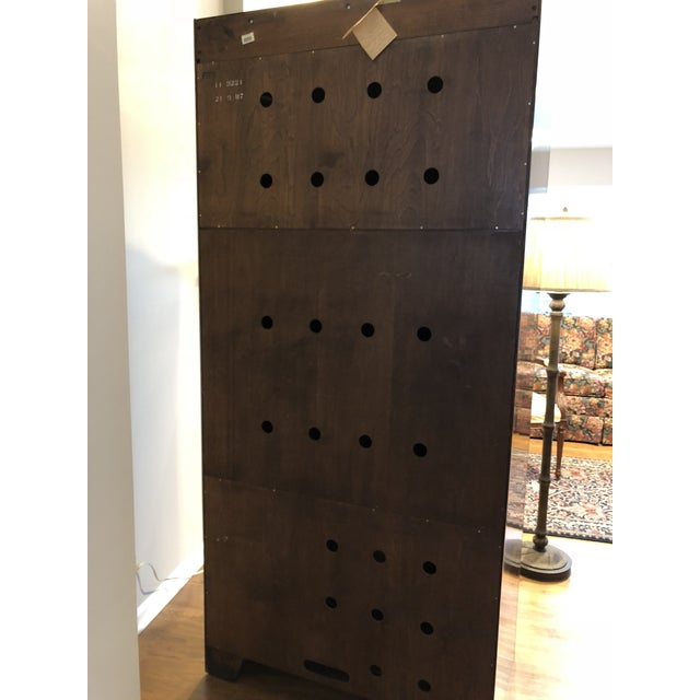Ethan Allen Ethan Allen Georgian Court Solid Cherry Armoire For Sale - Image 4 of 11