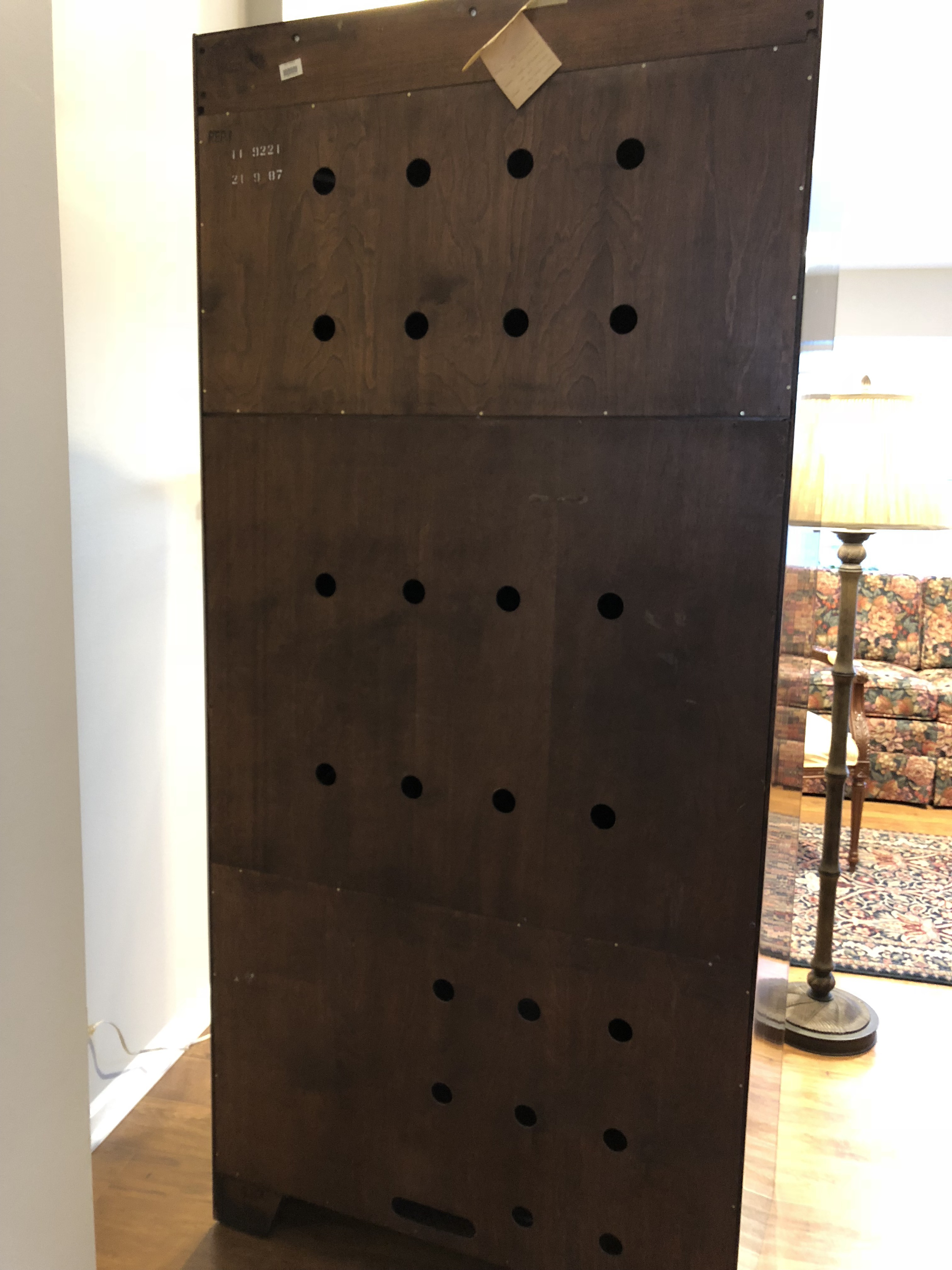 Ethan Allen Georgian Court Solid Cherry Armoire   Image 4 Of 11