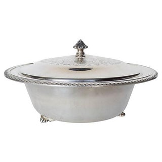 Traditional Silver Plated Covered Bowl