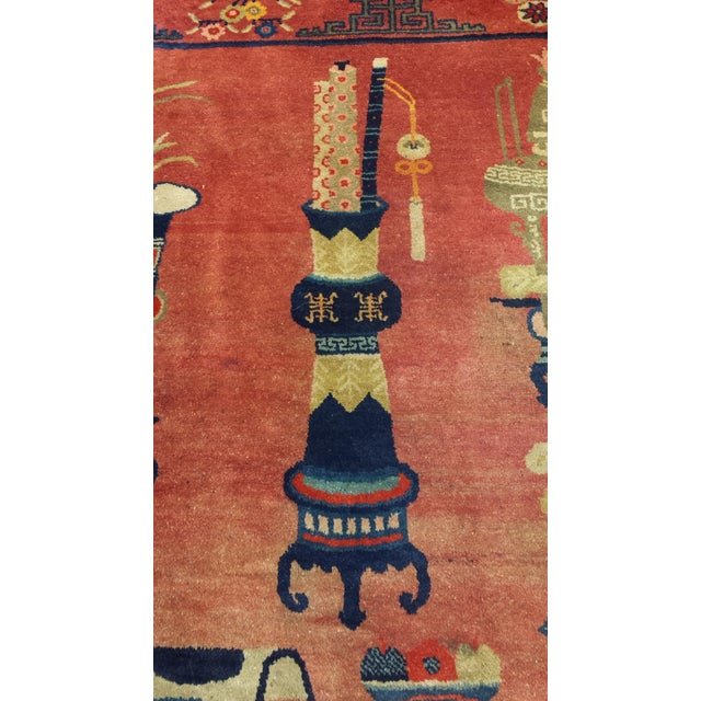 Art Deco Antique Chinese Patao Rug For Sale - Image 3 of 4