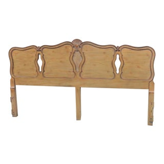 French Faux Painted Kingsize Headboard For Sale