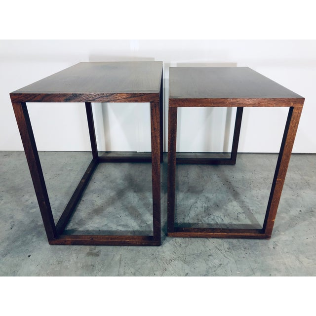 Danish Modern Karl-Erik Ekselius Nesting Tables for j.o. Carlsson - 2 Pieces For Sale - Image 3 of 13