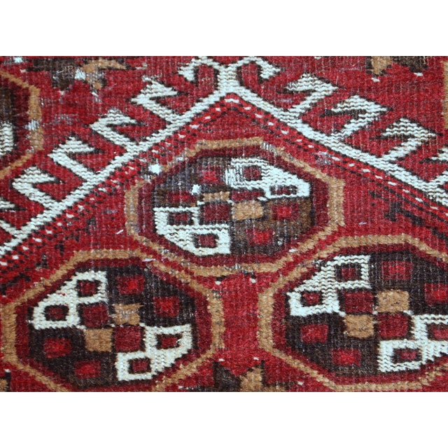 1920s Antique Afghan Adraskand Hand Made Prayer Rug - 2'7'' X 3'7'' For Sale - Image 10 of 10