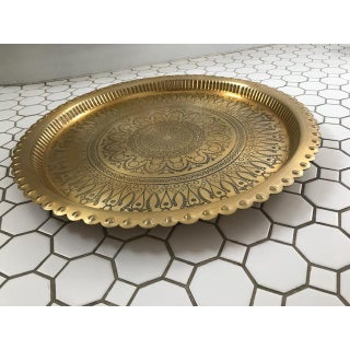 Ornate Moroccan Gold Serving Tray Preview