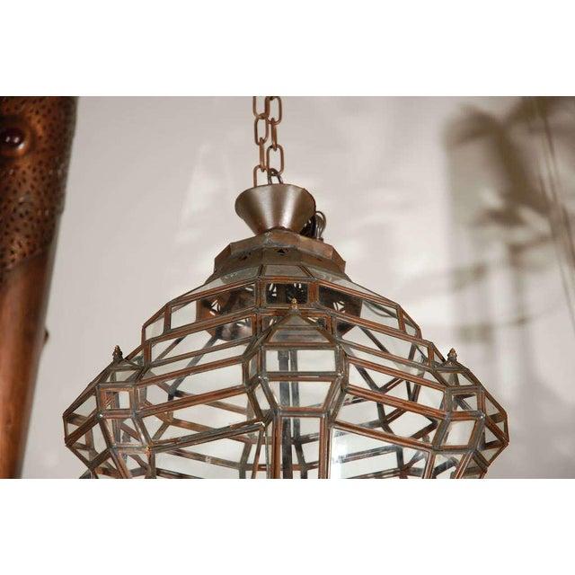 Granada Moroccan Clear Glass Pendant For Sale - Image 4 of 10