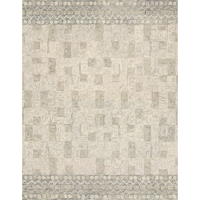 """Loloi Rugs Priti Rug, Pewter / Natural - 2'6""""x7'6"""" For Sale"""