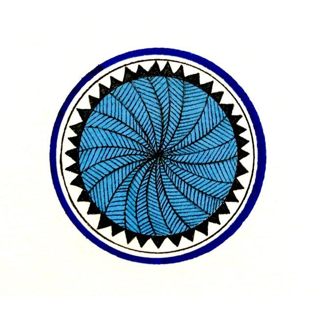 2010s Natasha Mistry Minimalist Geometric Ink Drawings - Set of 9 For Sale - Image 5 of 11