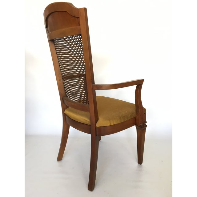 Caning Century Furniture Hibriten Cane Back Dining Chairs - Set of 6 For Sale - Image 7 of 8