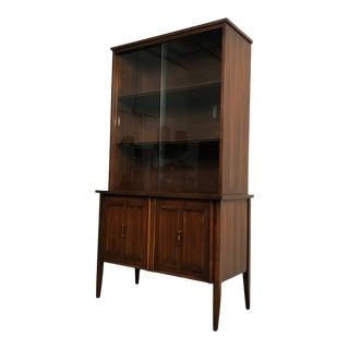 Pulsaki Mid-Century Danish Modern China Cabinet / Display Case For Sale