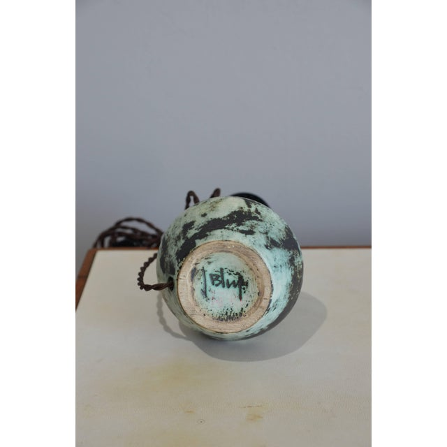 1960s Chic Petite Ceramic Lamp by Jacques Blin For Sale - Image 5 of 7